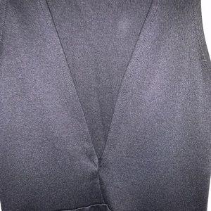 H&M Dresses - Black skater dress w/ plunge back